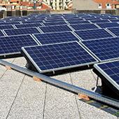 impianto fotovoltaico su terrazzo